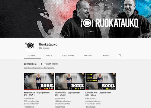 youtube sisällöntuotanto
